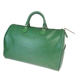 LOUIS VUITTON Speedy 35 Travel Hand Bag Epi Leathe